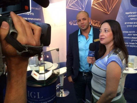 Diamond Exhibition TEL AVIV  2014 Interview IGL Chairman Mr. Israel Or.